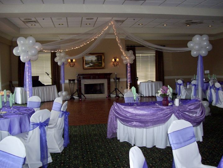Seats for the bride and groom