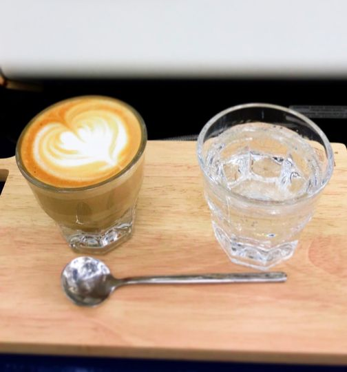 Cortado with a side of bubbly