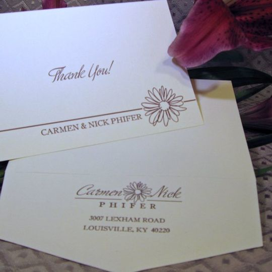 Carmen and Nick Thank You Notes