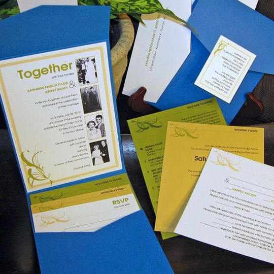 Katherine and Jeffrey Wedding Invitation
