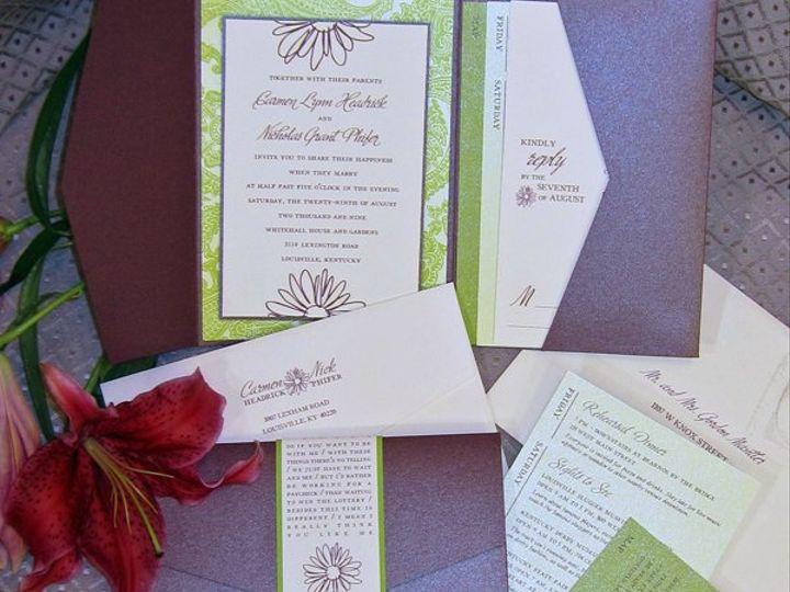 Tmx 1274727410648 Carmenandnickmaininvite Durham, North Carolina wedding invitation