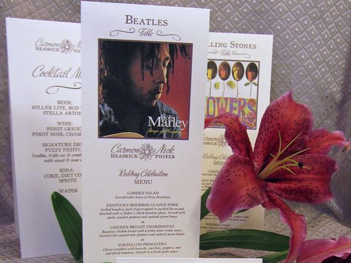 Tmx 1274727436667 Carmenandnickmenusandplacecards Durham, North Carolina wedding invitation