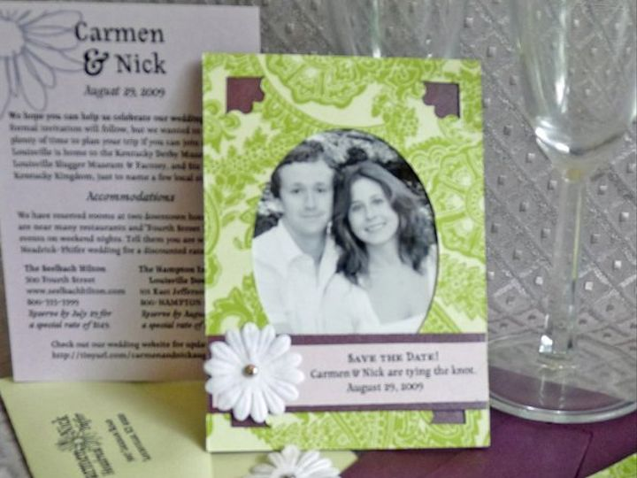 Tmx 1274727441136 Carmenandnicksavedate Durham, North Carolina wedding invitation