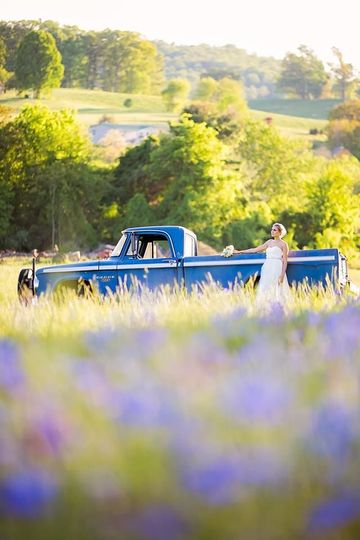 Bride by the truck