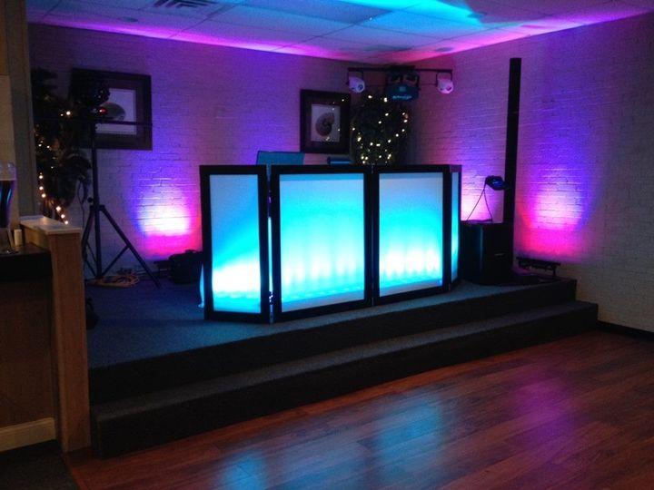 The Islander on Emerald Isle, setup for the ballroom dance floor of wedding reception.