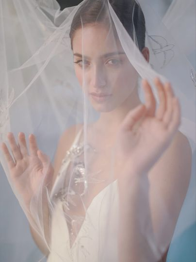 Bridal veil magazine shoot