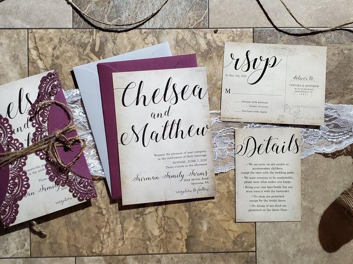 Tmx 91189513 1912048705594642 3926577827784163328 O 51 1879729 159225317795532 Clymer, NY wedding invitation