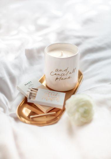 Custom candle and matchbox set