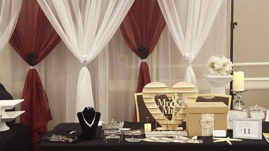 Bridal show display