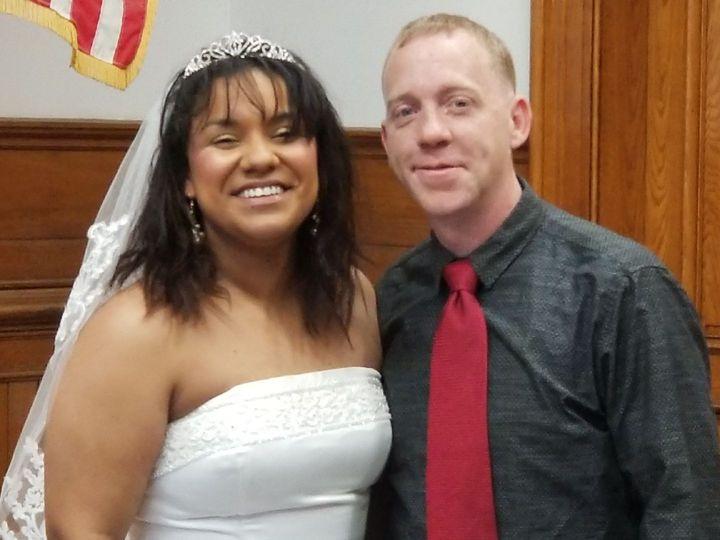Newlyweds winter wedding