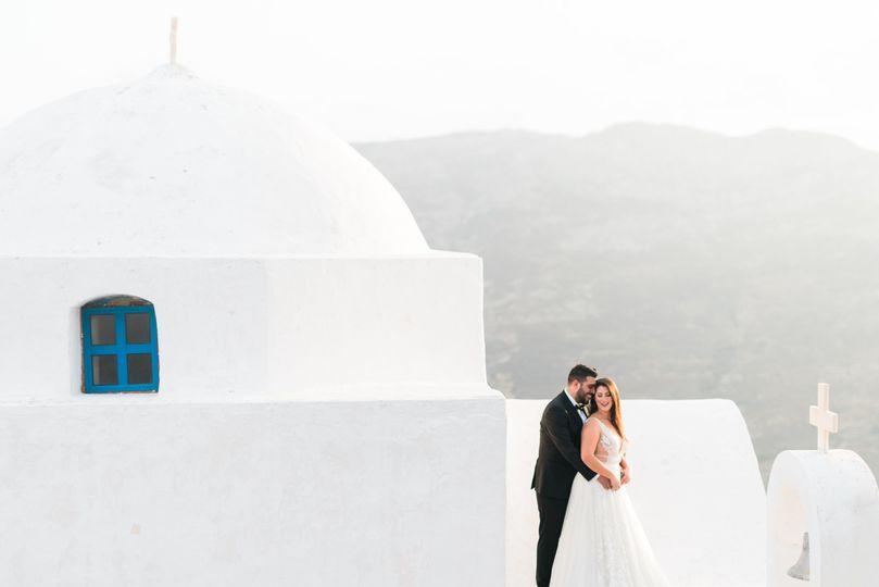 Greek island wedding