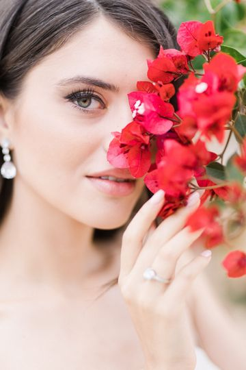 Bride embellished with flowers