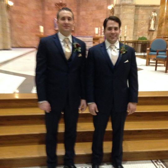 The groom and the best man