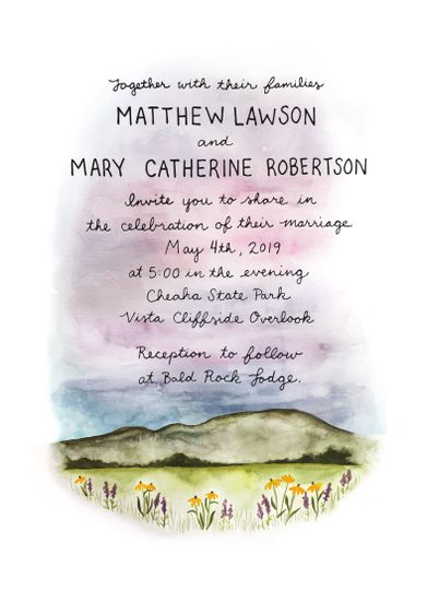 Cheaha Mountain Wedding Invite