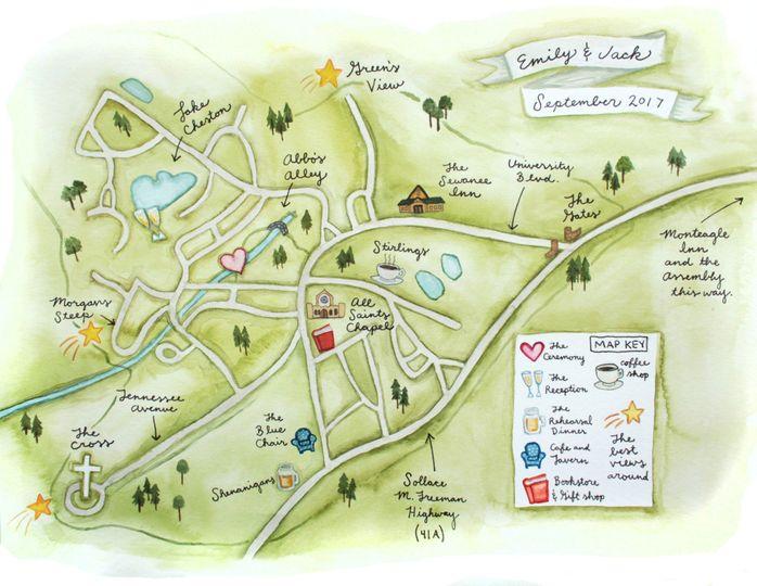 Sewanee Wedding Map