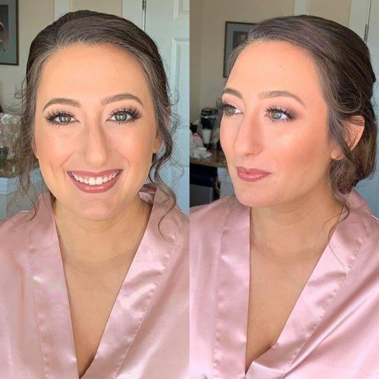Bridesmaid hair + makeup