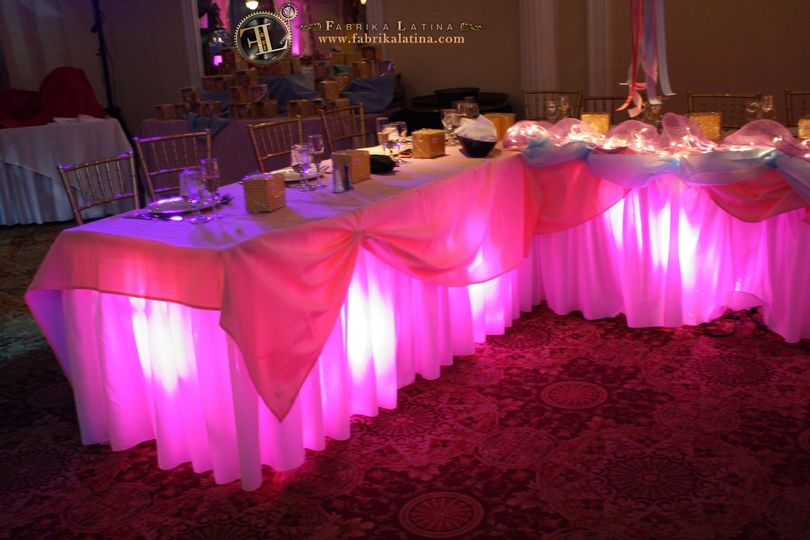 nj center table up lighting led lights dj