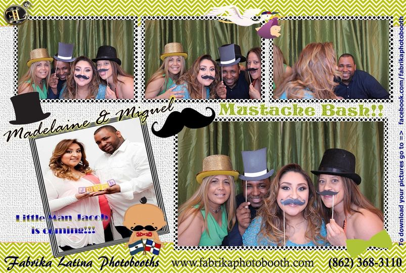 NJ Latin DJ - Baby Shower - Mustache Bash photobooth rental