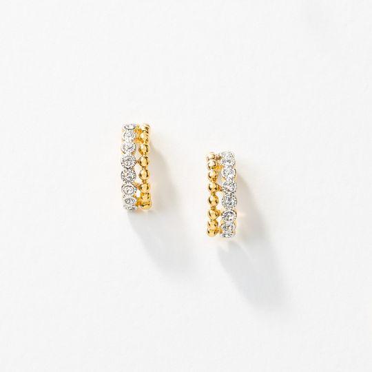 Duo hoop earrings