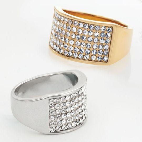 Crystal diamond rings