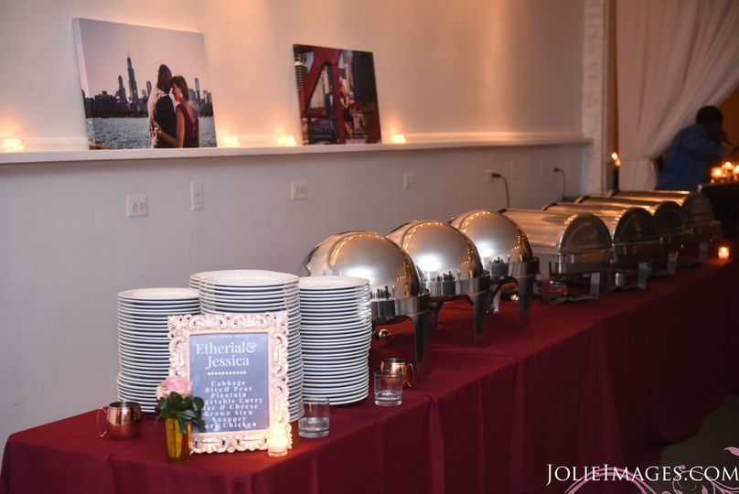 Classic Dinner Buffet Table Set up