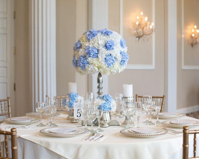 Sky Blue flower ball set