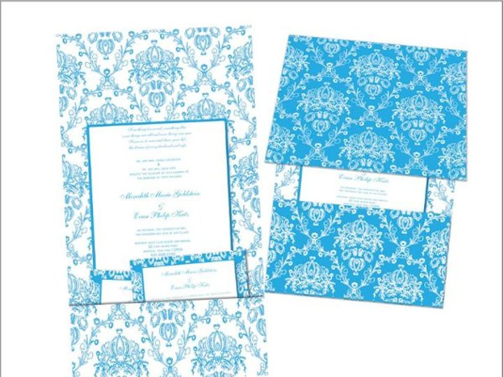 Tmx 1245721281890 CustomTealChandelierInvite Hamden wedding invitation