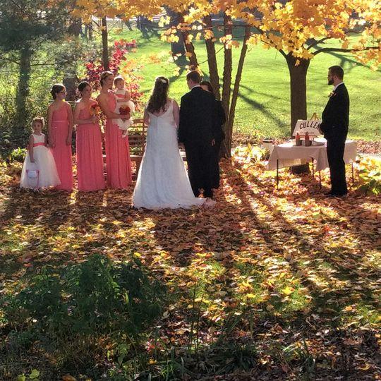 The gardens fall wedding
