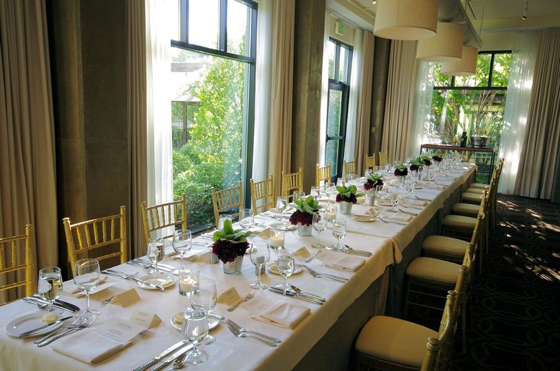 The Latham Room at the Proximity Hotel in Greensboro North Carolina perfect for a small reception or...