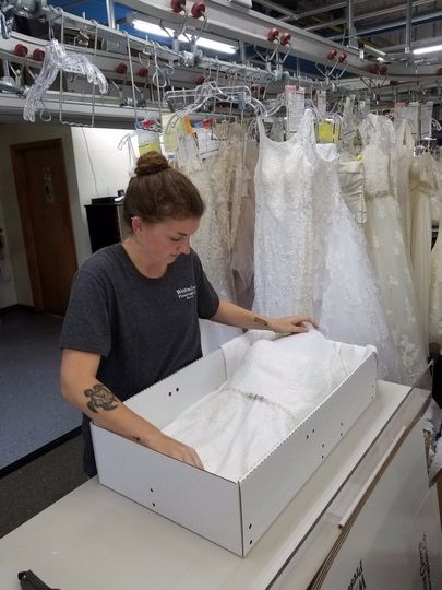 Packing the wedding gown
