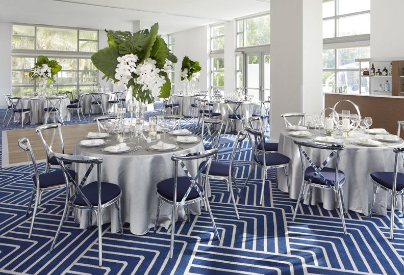 Blue and white motif