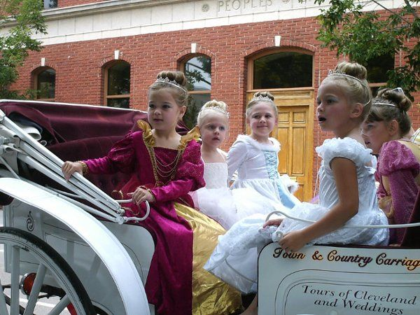"Our ""Princesses"" One of our best clients, Princess Parlor rides with the carriage"
