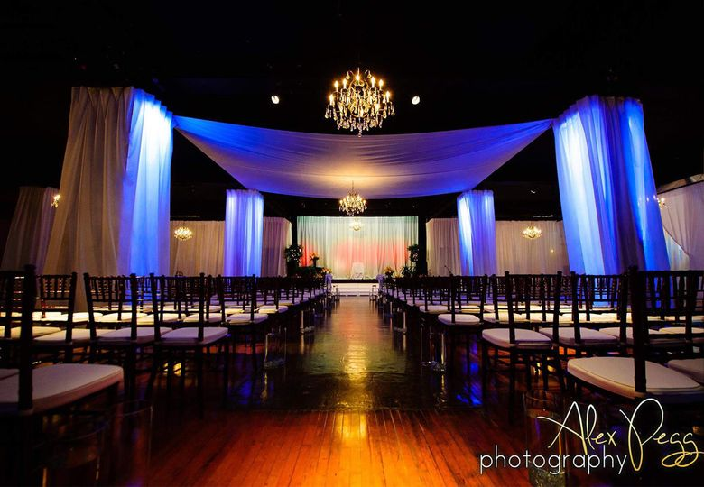 Ceremony lighting and decor