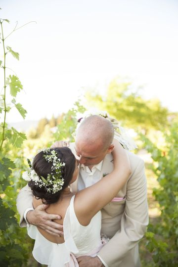 Vineyard ceremony at the beautiful Harvest Inn, St. Helena