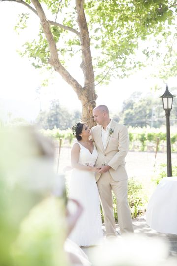 Beautiful ceremony at Harvest Inn, St. Helena