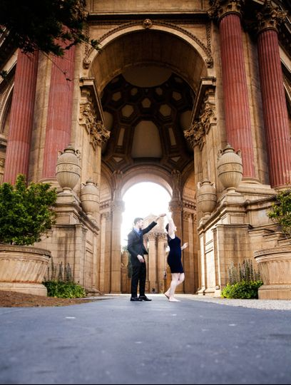 Gorgeous, fun engagement session @ Palace of Fine Arts, SF