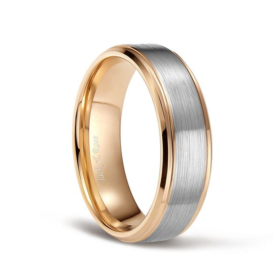 Gold and silver tungsten rings
