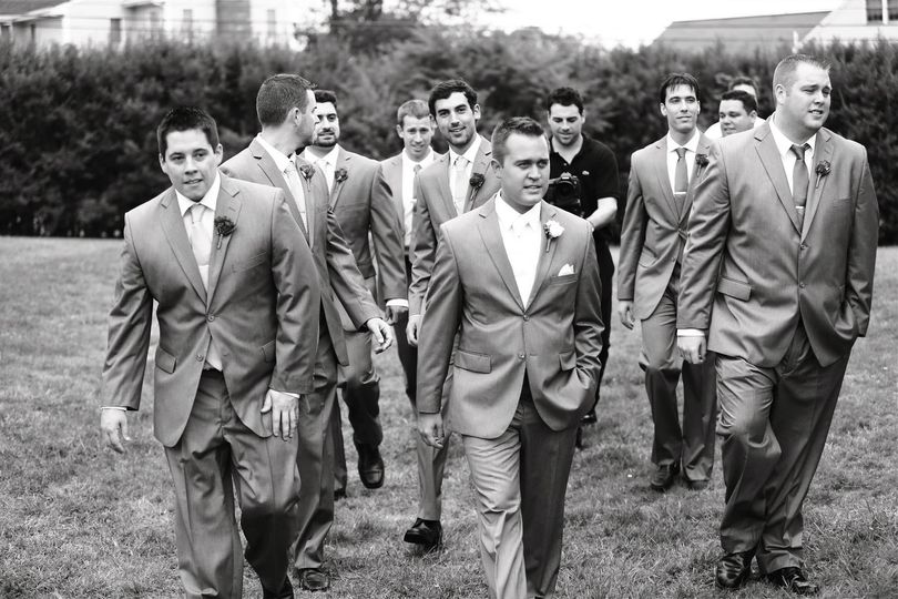 Gliding with the groomsmen!