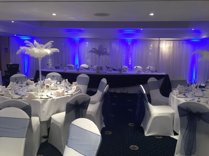 room draping feather decor