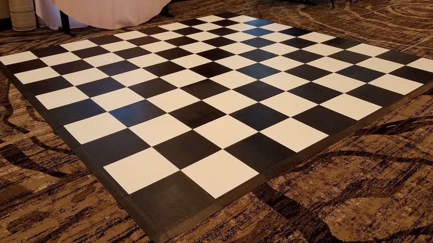 Chess board on the floor