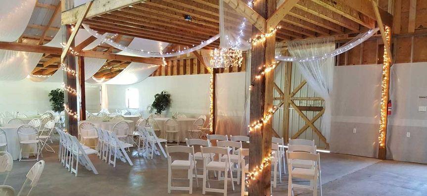 Indoor ceremony set-up