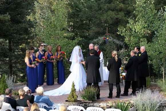The Mountainside Arbor provides a secluded location for an outdoor ceremony.