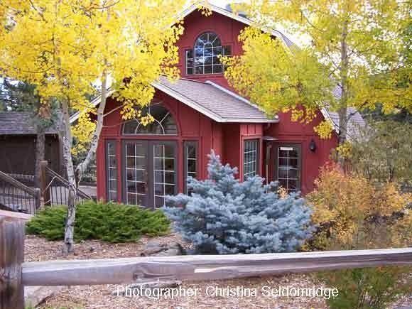 Evergreen Red Barn