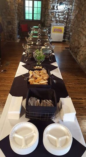 Black Accents on all tables