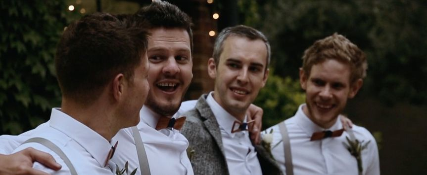 A handsome wedding party