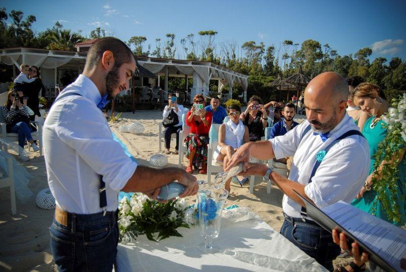 gay beach wedding italy 7