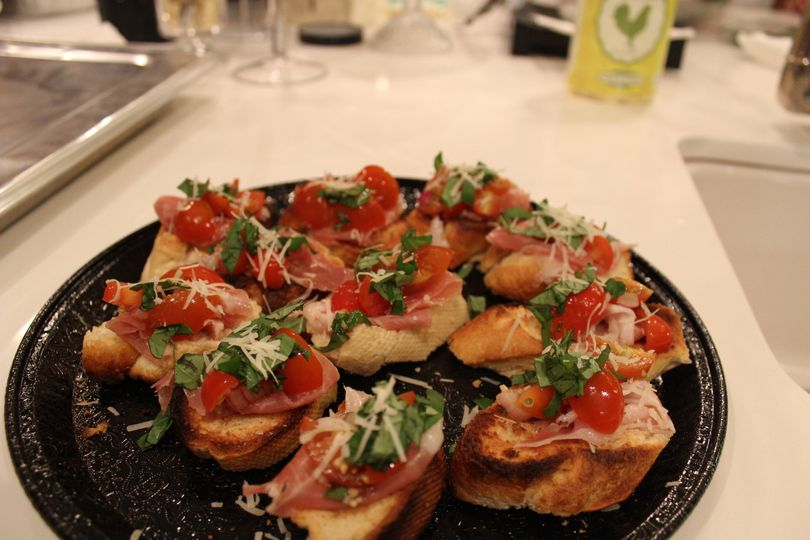 Bruschetta with Prosciutto.
