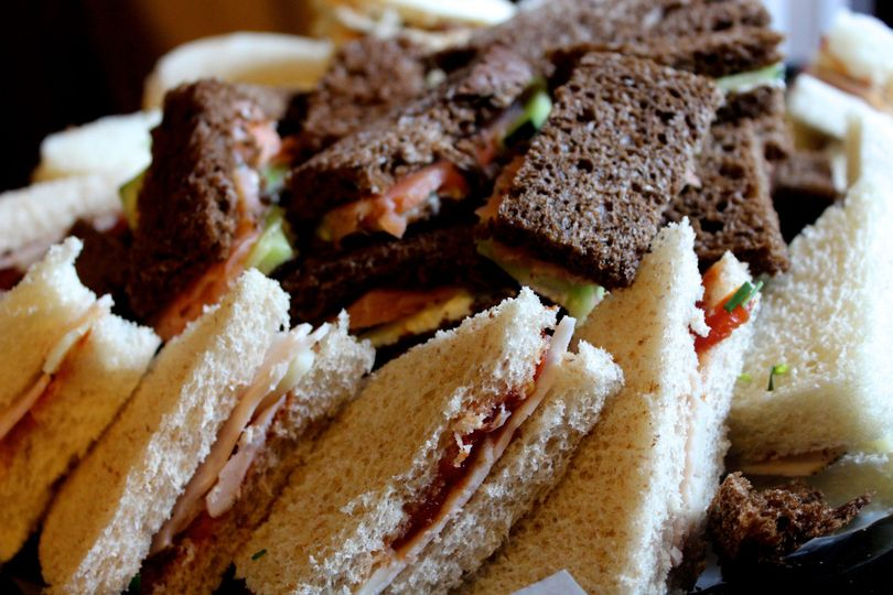 Tea sandwiches, for day of appetizer or wedding shower platter.
