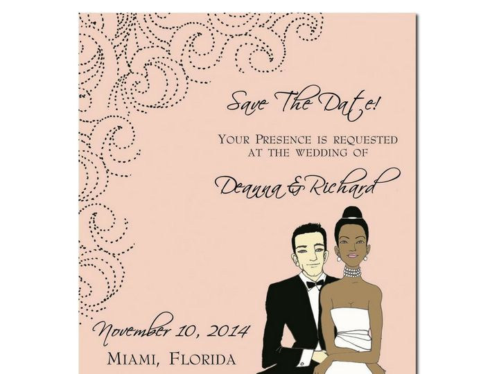Tmx 1489519039475 Save The Date   Interracial Pink Holly Springs wedding favor