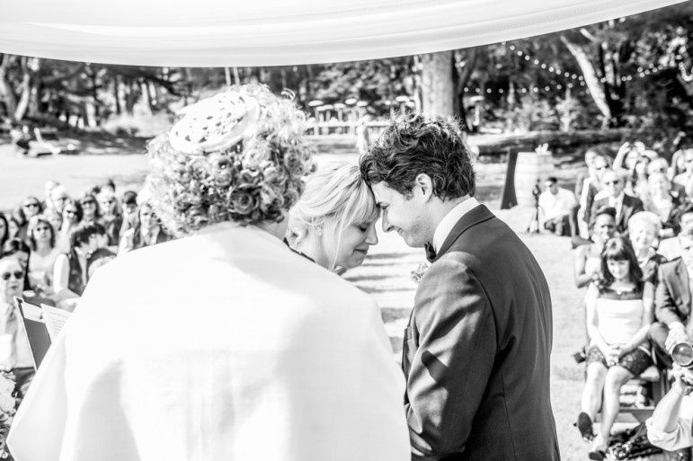 Moment of the newlyweds